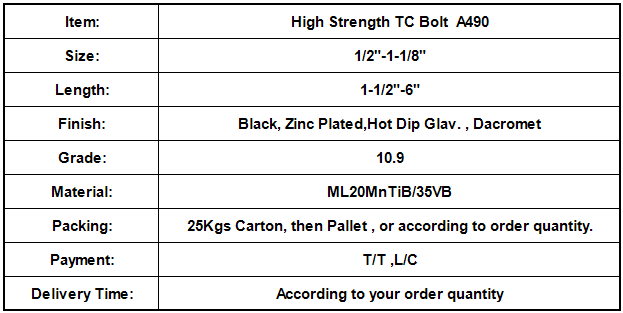 High Strength TC Bolt  A490.png