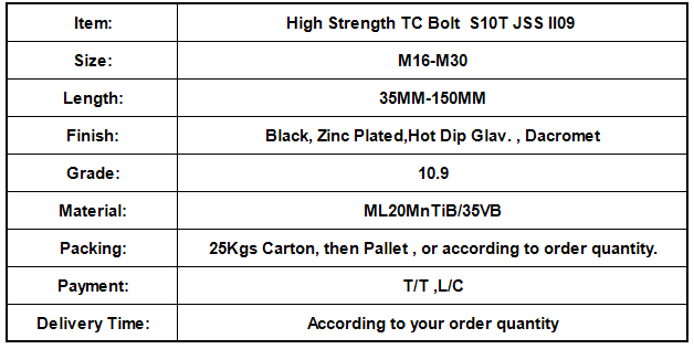 High Strength TC Bolt  S10T JSS II09.png